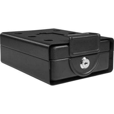 0.02 cu. ft. Steel Compact Key Lock Box Safe with Mounting Sleeve