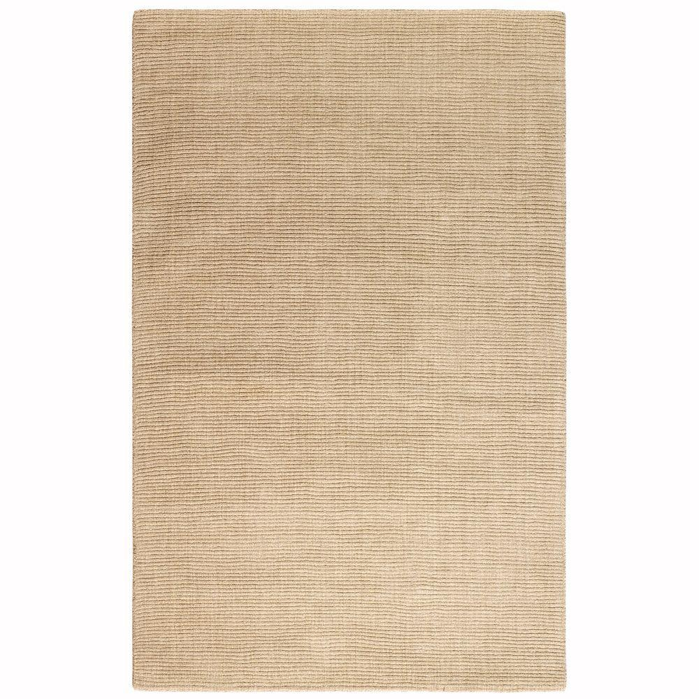 Home Decorators Collection Simplify Beige 5 ft. 3 in. x 8 ft. 3 in. Area Rug