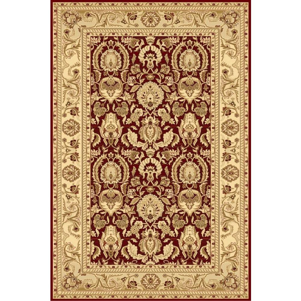 LA Rug Traditional Design of Red and Light Brown Ziggler Collection 2 ft. x 4 ft. Accent Rug