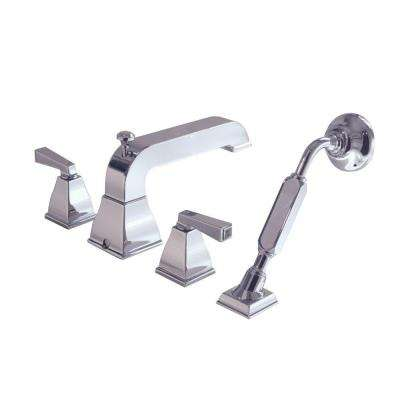 Town Square 2-Handle Deck-Mount Roman Tub Faucet with Hand Shower in Polished Chrome
