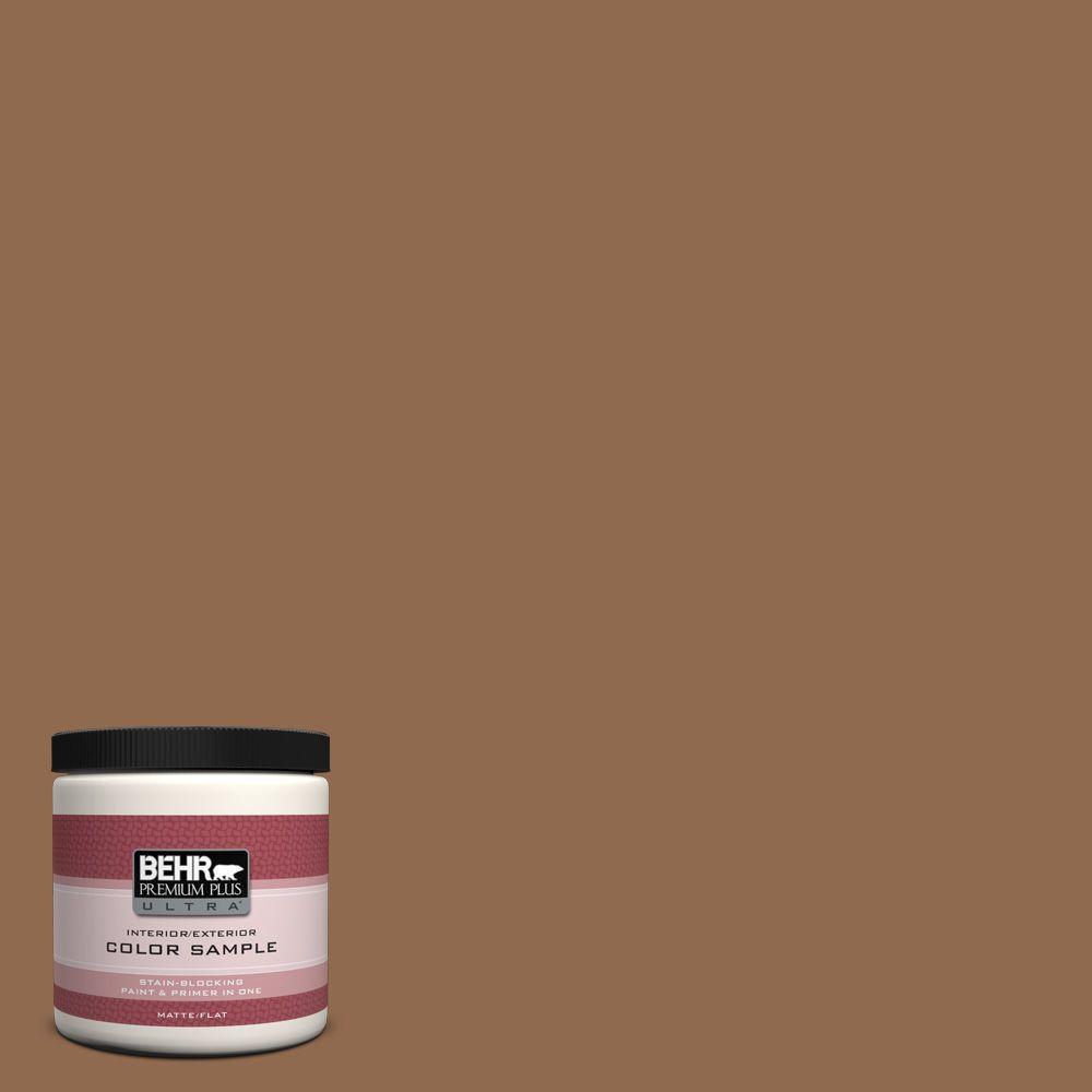 Behr Premium Plus Ultra 8 Oz Ppu4 01 Caramel Swirl Matte Interior