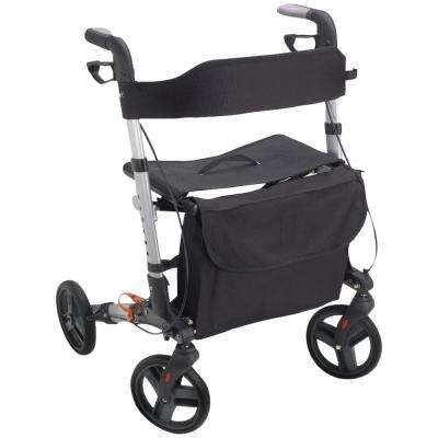 4-Wheel E-Z Fold Rollator in Silver