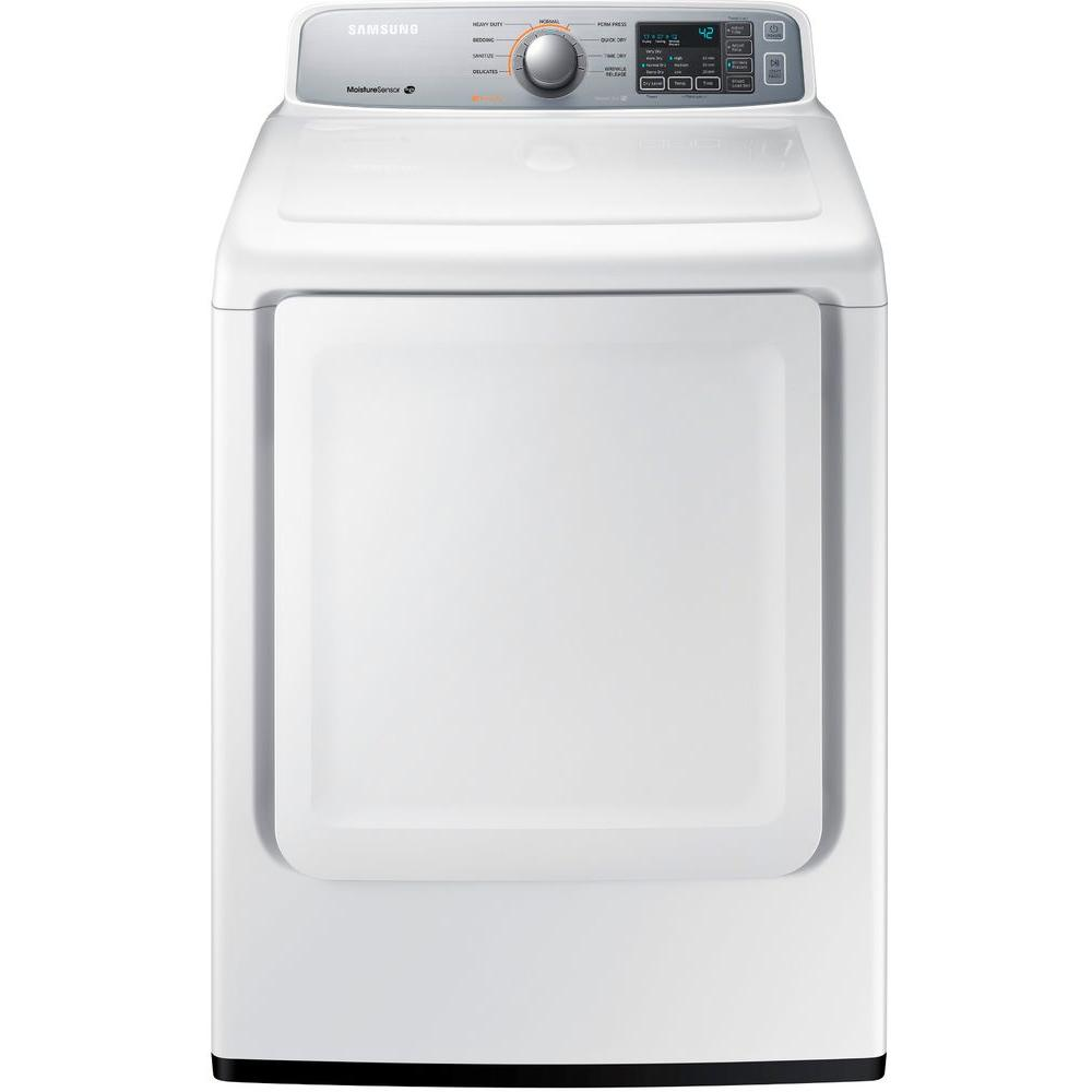 Samsung 7.4 cu. ft. Electric Dryer in White