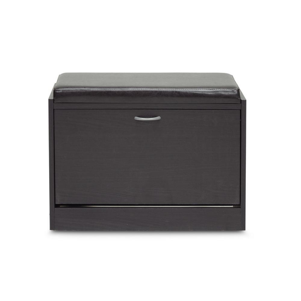 1-Pair Shir Dark Brown Wood  Storage Shoe Organizer