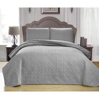 Kennelly Chocolate Full/Queen Bedspread Set