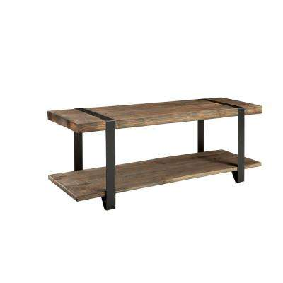 Modesto Rustic Natural Storage Bench