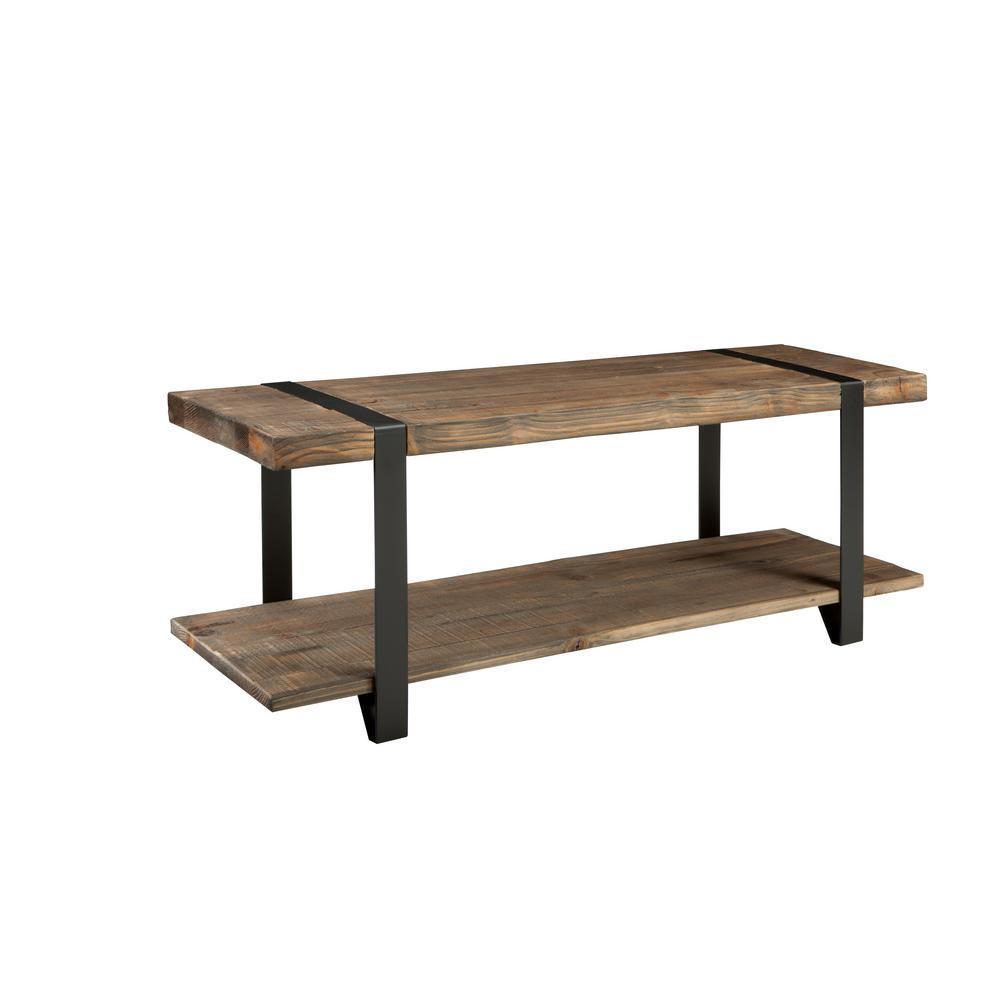 Alaterre Furniture Modesto Rustic Natural Storage Bench AMSA0320