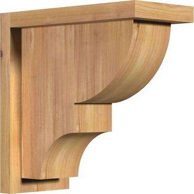 5-1/2 in. x 12 in. x 12 in. Western Red Cedar Ridgewood Smooth Corbel with Backplate
