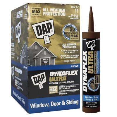Dynaflex Ultra Brown 10 1 oz  Advanced Exterior Window, Door and Siding  Sealant (12-Pack)