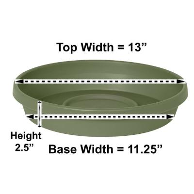 Terra 13 in. Living Green Plastic Plant Saucer Tray