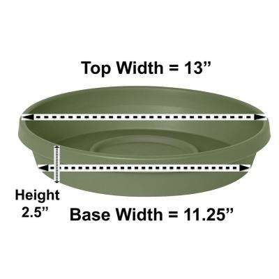 Terra Plant Saucer Tray 13 in Living Green