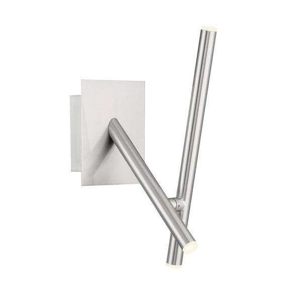 Crossroads 6'' Satin Nickel Metal Integrated LED Wall Sconce