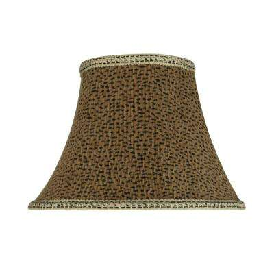 13 in. x 9.5 in. Leopard Bell Lamp Shade