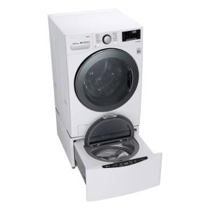 LG Electronics 4 5 cu  ft  White Ultra Large Capacity Front Load Washer  with TurboWash360, Steam and Wi-Fi Connectivity