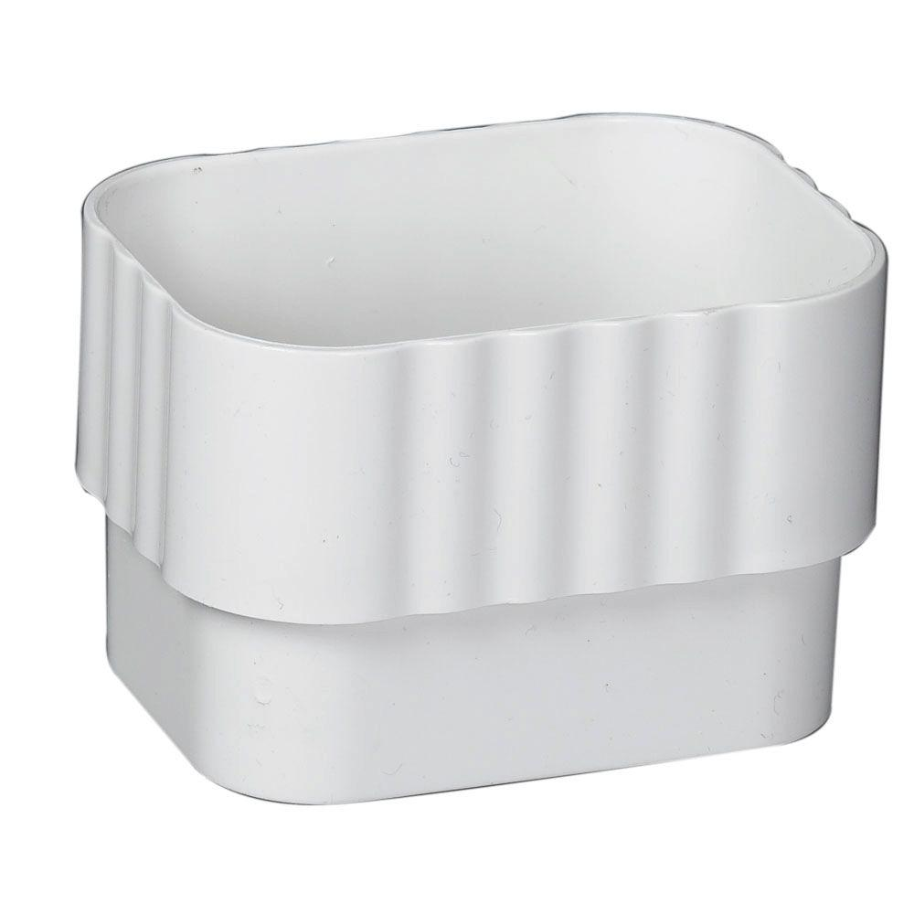 Amerimax Home Products 2 In X 3 In White Vinyl Downspout