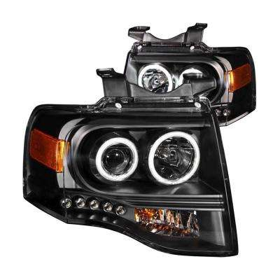 2007-2014 Ford Expedition Projector Headlights w/ Halo Black