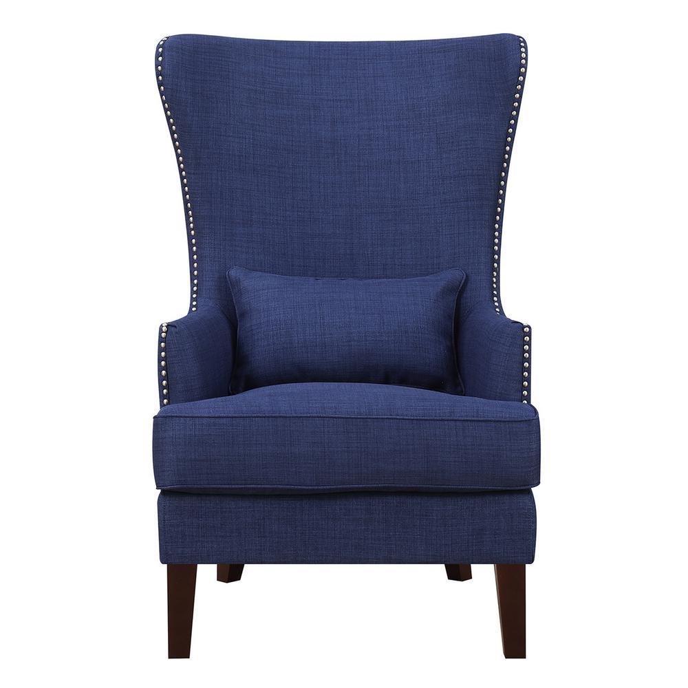 Kegan blue accent chair