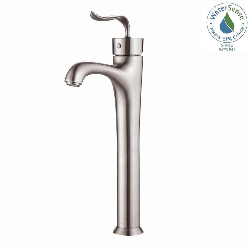 Coda Single Hole Handle Bathroom Faucet In Brushed Nickel