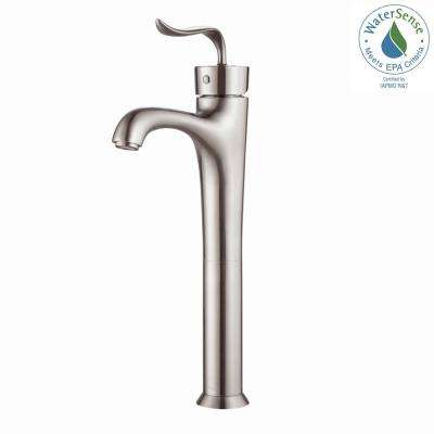 Coda Single Hole Single-Handle Bathroom Faucet in Brushed Nickel