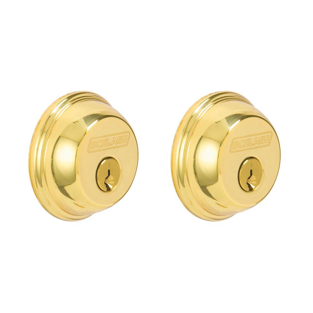 Bright Brass Double Cylinder Deadbolt