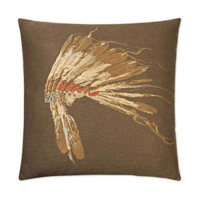 Chief Woodland Feather Down 24 in. x 24 in. Standard Decorative Throw Pillow