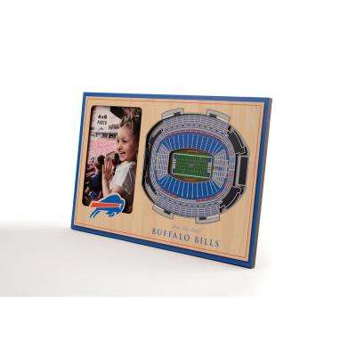 NFL Buffalo Bills Team Colored 3D StadiumView with 4 in. x 6 in. Picture Frame