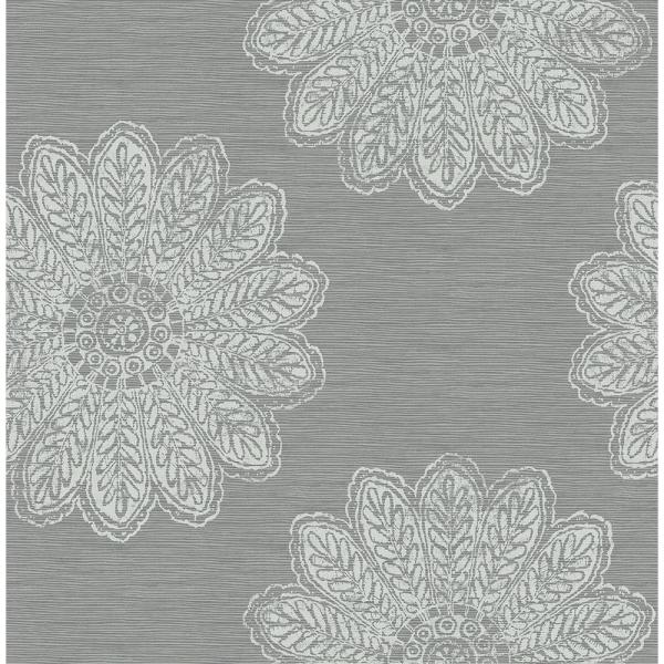 A-Street 56.4 sq. ft. Sol Slate Medallion Wallpaper 2793-24746