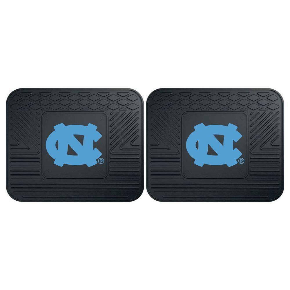 NCAA University of North Carolina - Chapel Hill Black Heavy Duty 2-Piece 14 in. x 17 in. Vinyl Utility Mat