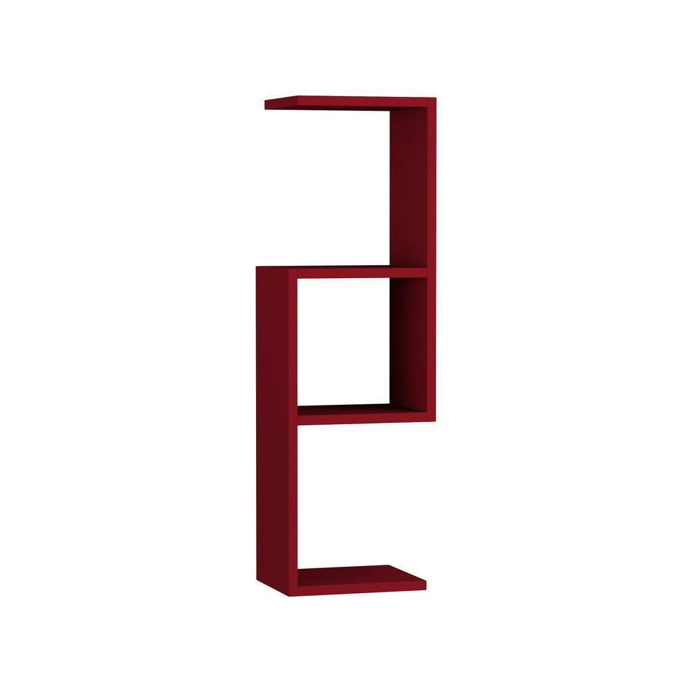 Ada Home Decor Wieland Burgundy Modern Wall Shelf DCRW2286