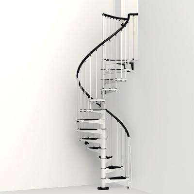 Civik 47 in. White Spiral Staircase Kit