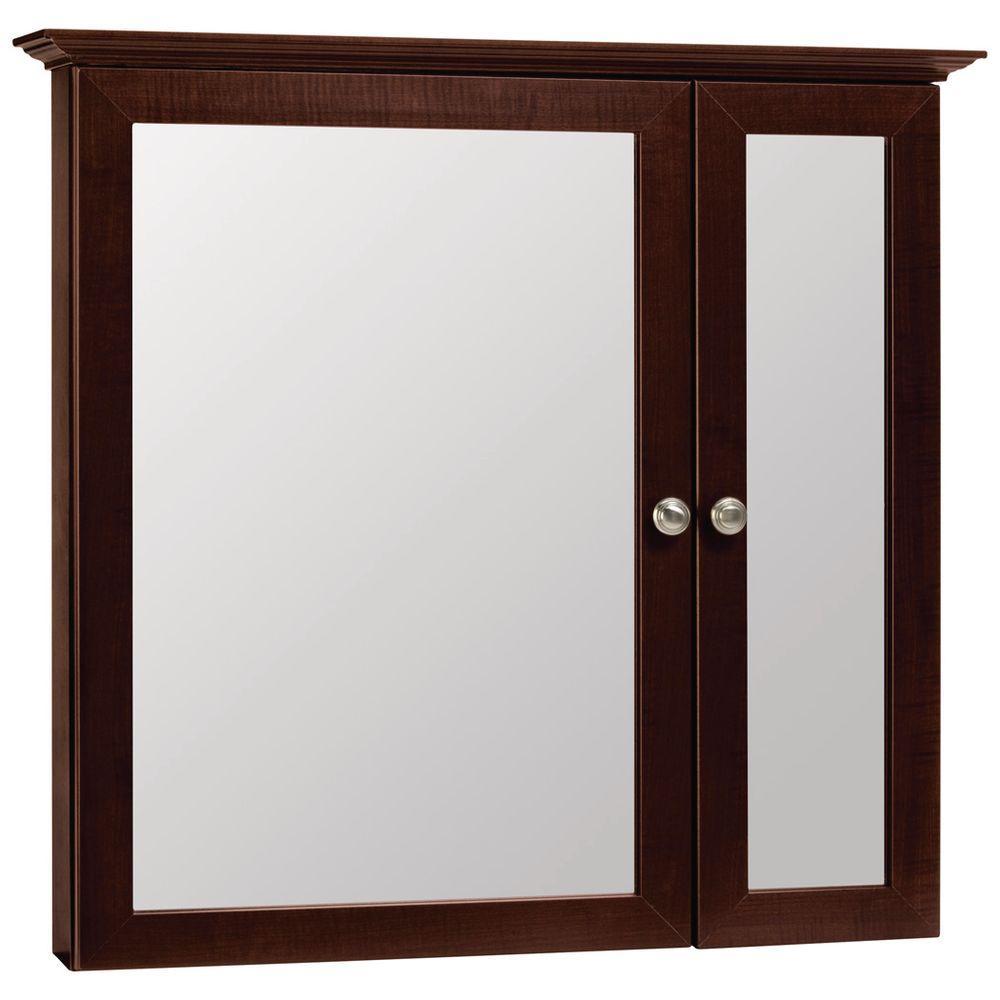 Glacier Bay In W X In H Framed SurfaceMount BiView - Master bathroom medicine cabinets