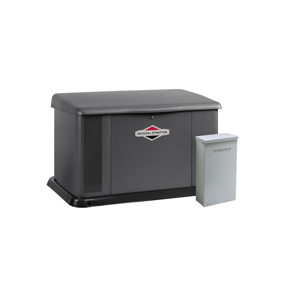 Briggs & Stratton 17,000-Watt Air Cooled Home Standby Generator with 150 Amp Symphony II Transfer Switch