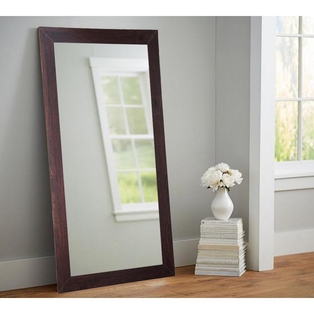 Dark Walnut 32 in. x 65.5 in. Tall Mirror-AV6TALL - The Home Depot