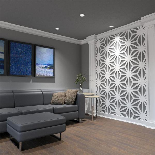 Ekena Millwork 3 8 In X 23 3 4 In X 27 1 2 In Large Hampton White Architectural Grade Pvc Decorative Wall Panels Walp24x28hmp The Home Depot