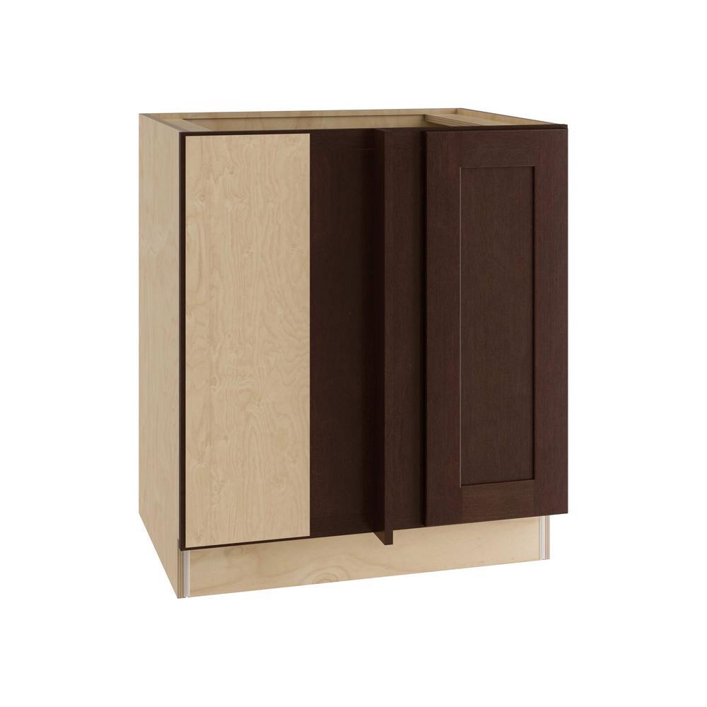 Franklin Assembled 30x34.5x24 in. Single Door Hinge Left Base Kitchen Blind
