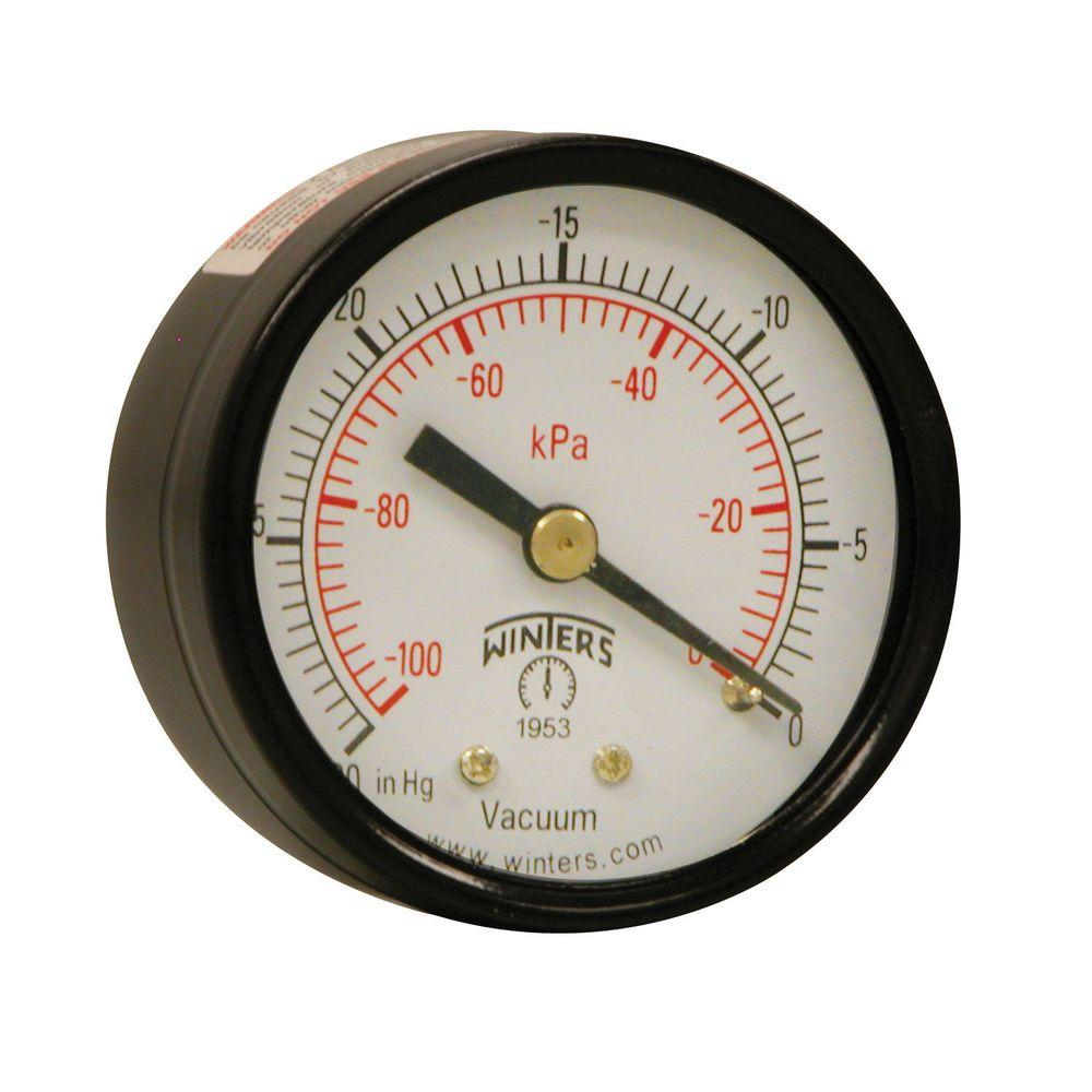 PEM Series 2 in. Black Steel Case Brass Internals Pressure Gauge