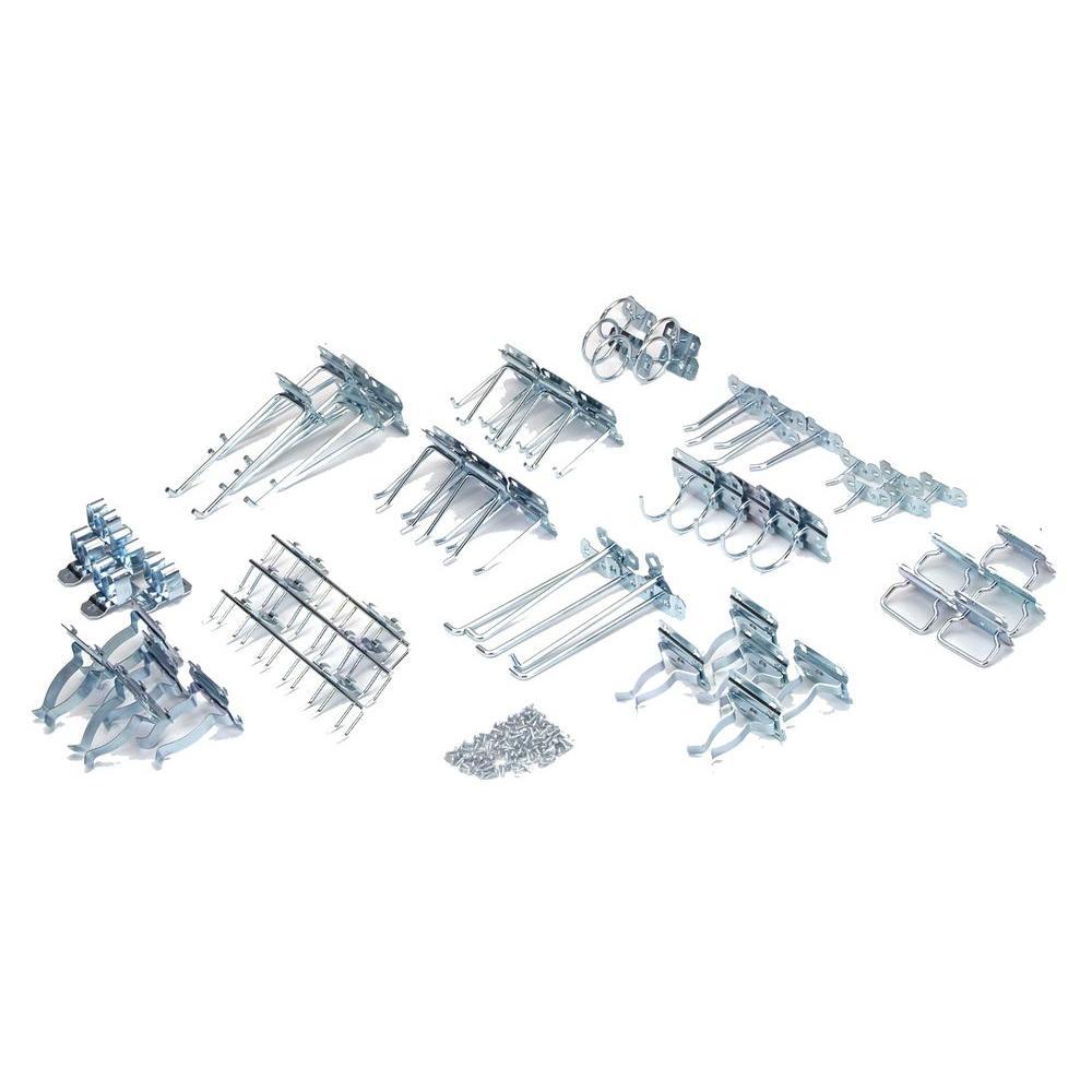 Zinc Plated Steel Hook Assortment for LocBoard (63-Piece)