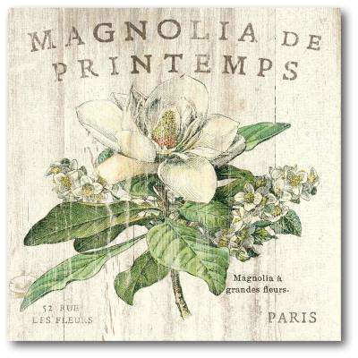 "30 in. x 30 in. ""Magnolia de Printemps"" Gallery Wrapped Canvas Printed Wall Art"