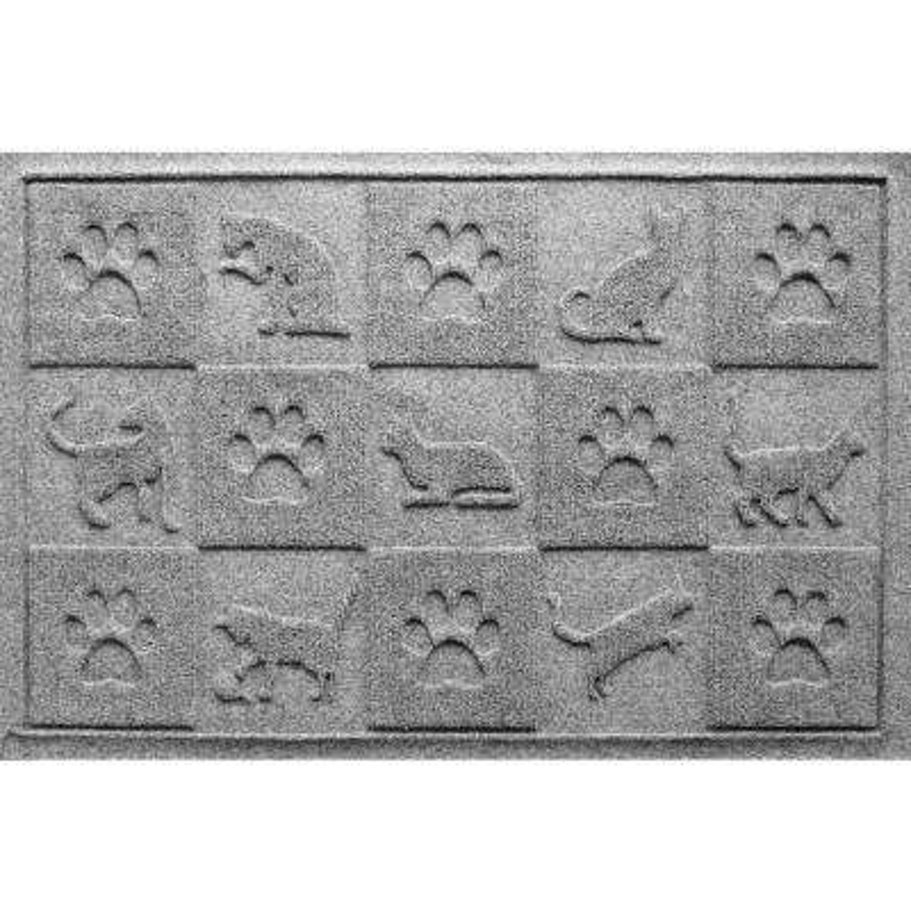 Medium Gray 24 in. x 36 in. Cat in the Mat Pet Mat