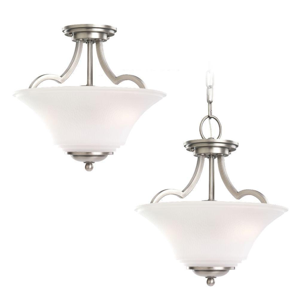 Sea Gull Lighting Gladstone 5 Light Antique Brushed Nickel: Sea Gull Lighting Somerton 2-Light Antique Brushed Nickel