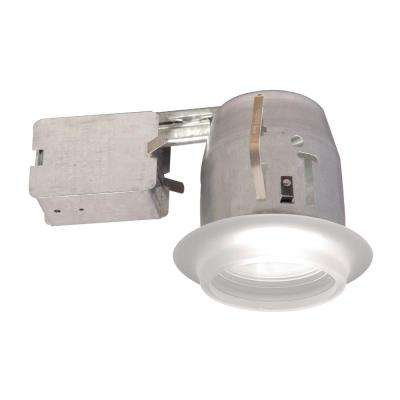 100 Series 4 in. White Recessed Halogen Light Fixture Kit