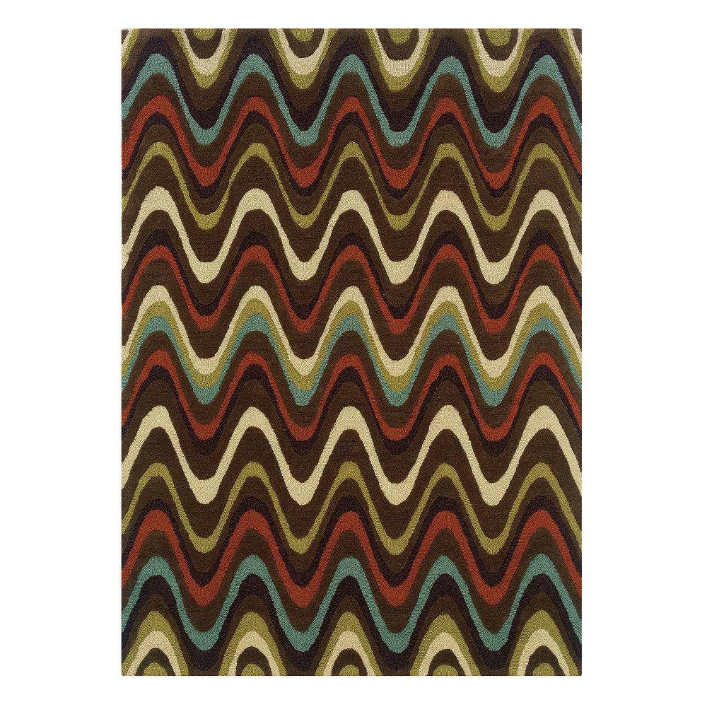 Linon Home Decor Trio Collection Brown And Multi 8 Ft. X