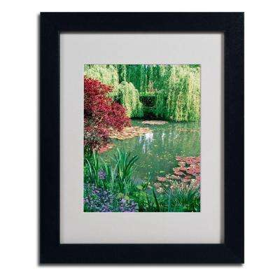 11 in. x 14 in. Monets Lily Pond 2 Matted Framed Art