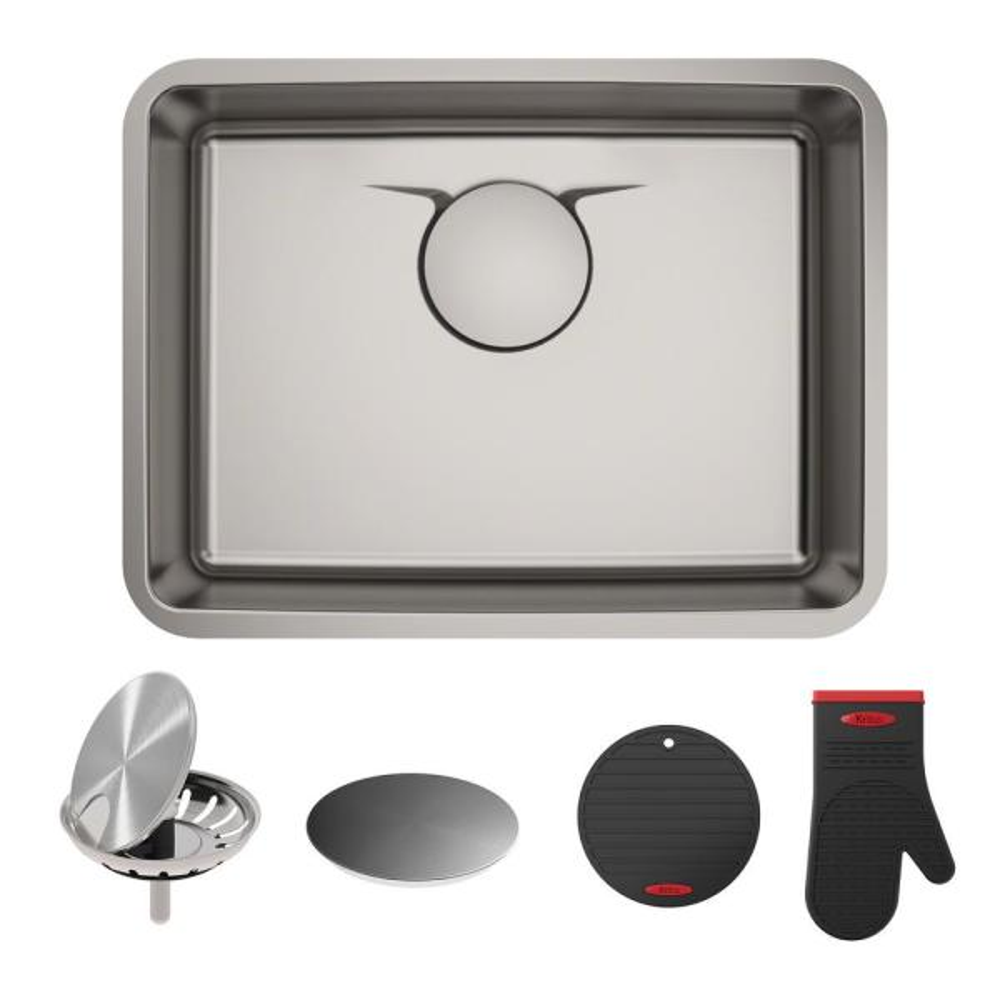Dex Undermount Stainless Steel 25 in. Single Bowl Kitchen Sink
