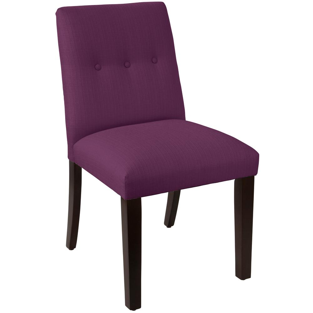 Klein fig tapered dining chair with buttons