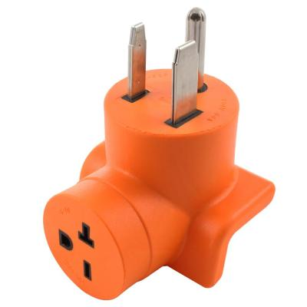 50 Amp 3-Prong 6-50P Welder Plug to 6-20R 20 Amp 250-Volt HVAC Adapter