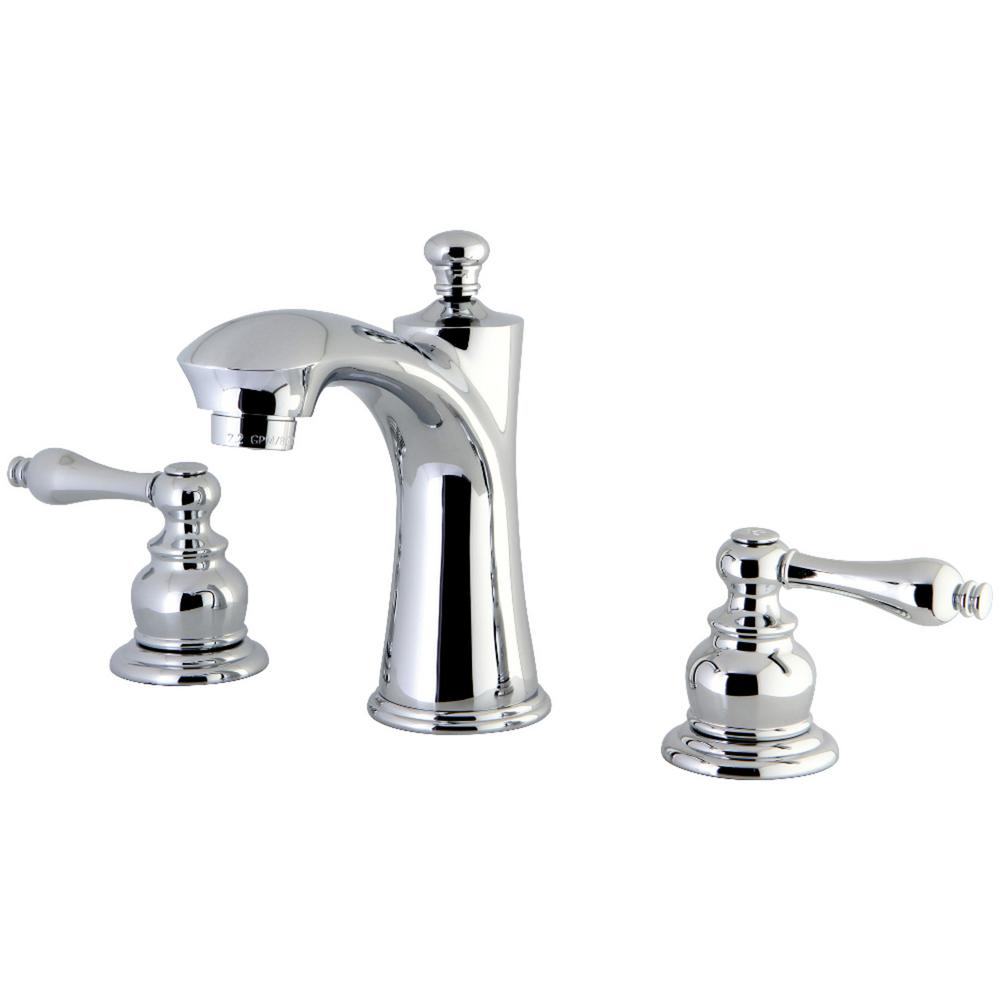 Delta Victorian 8 In Widespread 2 Handle High Arc Bathroom Faucet In Chrome 3555lf 216: Kingston Brass Victorian 8 In. Widespread 2-Handle Bathroom Faucet In Chrome-HKB7961AL