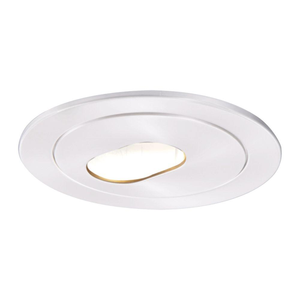 Low-Voltage 4 in. White Recessed Ceiling Light Trim with Adjustable Slot