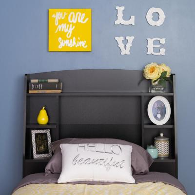Astrid Black Twin Headboard