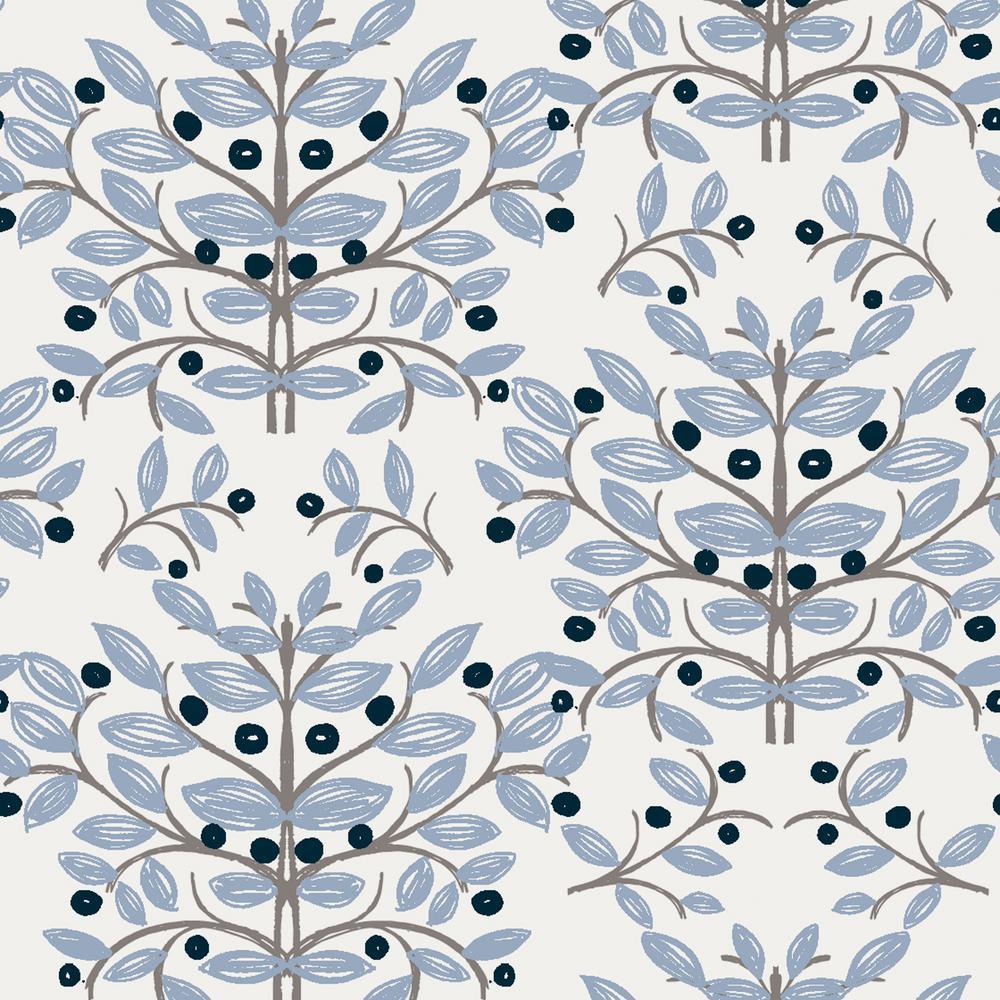Kristofer Slate Botanical Paper Strippable Wallpaper (Covers 56.4 sq. ft.)
